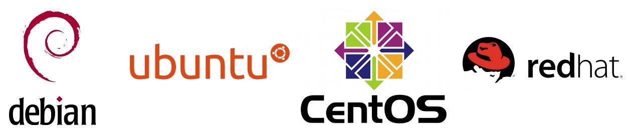 Debian, Ubuntu, CentOS, RedHat